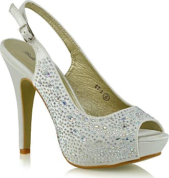 NEW WOMENS LADIES HIGH HEEL DIAMANTE BOW STRAP PARTY PLATFORM SHOES SANDALS SIZE