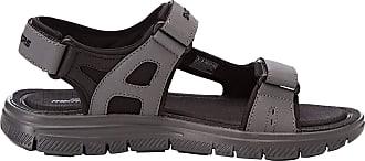 Skechers Men 51874 Ankle Strap Sandals, Black (Black/CHARCOAL), 12 UK (47.5 EU)
