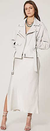 Iro TIGAO LEATHER JACKET - CLOUDY WHITE