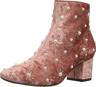 576690cf2 The Fix Womens Darcey Starburst Block Heel Ankle Boot with Pearls