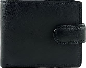 Visconti Mens Quality Leather Tabbed Wallet Heritage Collection Gift Boxed (Black)