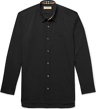 eab85c7b152 Burberry Slim-fit Stretch-cotton Poplin Shirt - Black