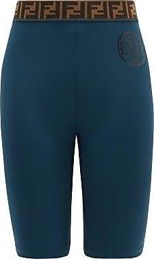 Fendi Ff-jacquard Stretch-jersey Bike Shorts - Womens - Navy