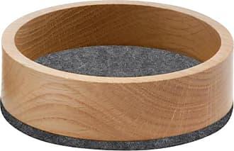 Hey-Sign Bowl Holzschale S - Filz anthrazit/Filz in 5mm Stärke/H 4.5cm / Ø 13.5cm/Eiche massiv geölt