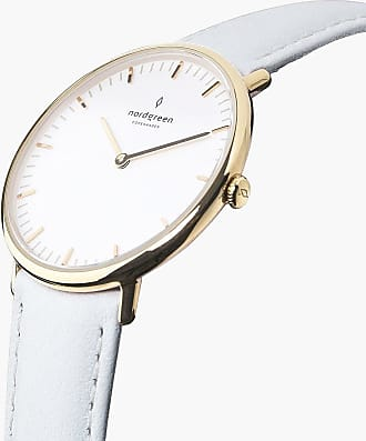 Nordgreen Native - Gold | White Leather - 36mm / Gold