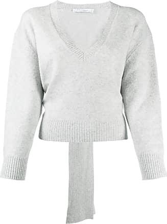 Iro Suéter com amarração na bainha - Cinza