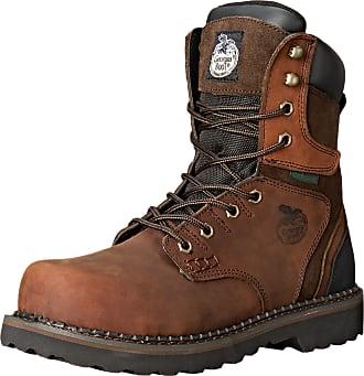 Georgia Boot Mens Georgia Brookville 8 Steel Toe Work Boot Work Shoe