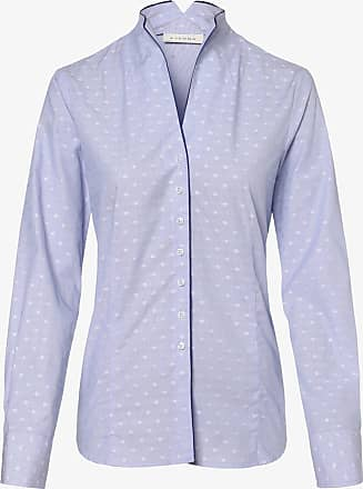 Eterna Damen Bluse - Bügelleicht blau