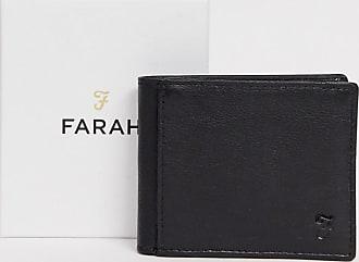 Farah Schwarze Lederbrieftasche