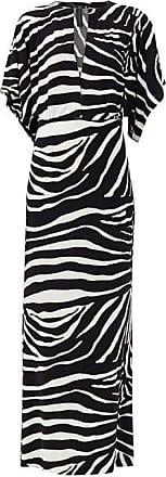 Norma Kamali Waterfall-sleeve Zebra-print Maxi Dress - Womens - Animal