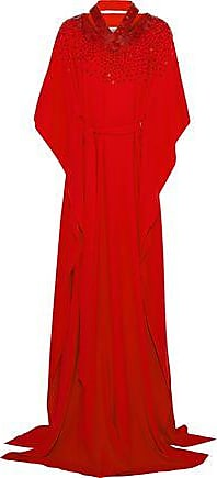 Oscar De La Renta Oscar De La Renta Woman Sequin-embellished Cutout Cotton-blend Crepe Gown Red Size XS