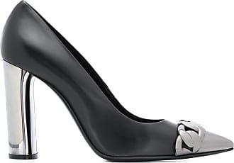 Casadei metallic pointed toe pumps - Black