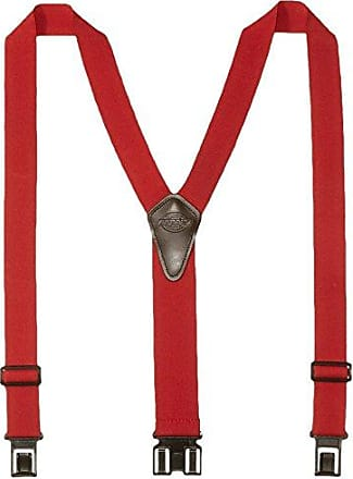 Dickies Heavy Duty Clip Suspenders - Mens Adjustable Y Back Straps with Clips for Work Pants,Red,One sizee