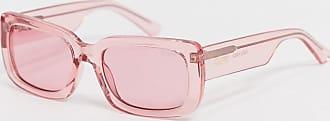 Quay Yada Yada retro square sunglasses in pink