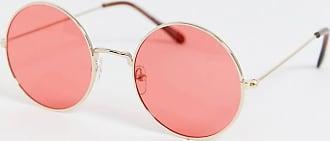 7X SVNX Round Sunglasses-Gold