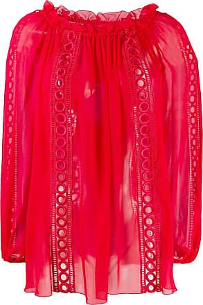 Blumarine Blusa com babados - Vermelho