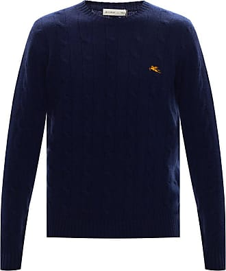 Etro Knitted Logo Sweater Mens Navy Blue
