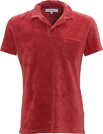 Orlebar Brown Mens Terry Towelling Cotton Polo Shirt XL Blush