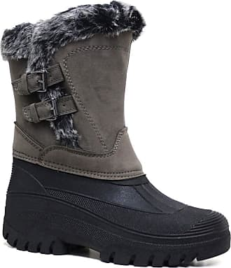 Groundwork LS88 Womens Mucker Stable Yard Winter Snow Zip up Boots Wellies (5 UK, Charcoal)