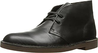 Clarks Mens Bushacre 2 Chukka Boot, Black Smooth, 10.5 M US