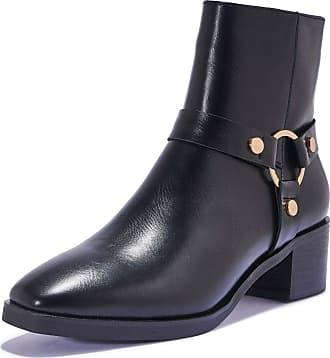 Truffle Womens Black Vegan Leather Fashion Ankle Boots Booties Shoes - Black - UK 5