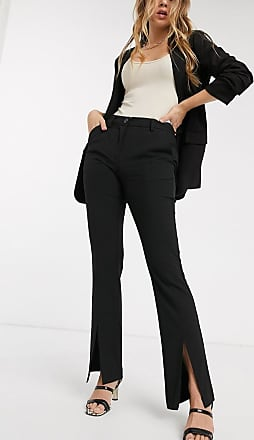 Y.A.S trousers with slit front in black