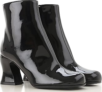 Alexander McQueen Boots for Women, Booties On Sale in Outlet, Black, Patent Leather, 2017, 6 8 9