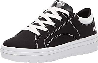 3740a91c694 Skechers Womens Street Cleat. Canvas Contrast Stitch lace up Sneaker