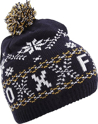 Oxford University Unisex Fairisle Pattern Oxford Winter Bobble Hat (One Size) (Navy)