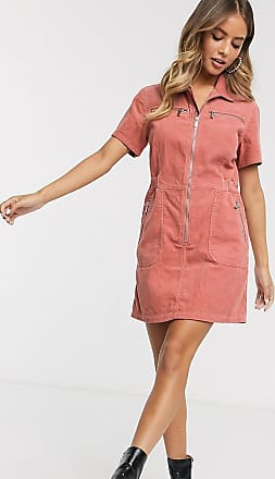 Urban Bliss shirt dress in cord-Pink