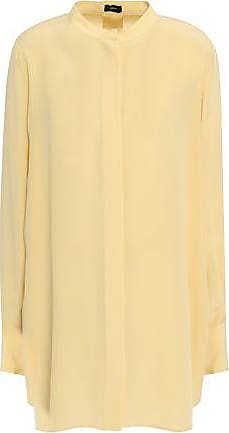 Joseph Joseph Woman Tie-back Silk Crepe De Chine Tunic Cream Size 42