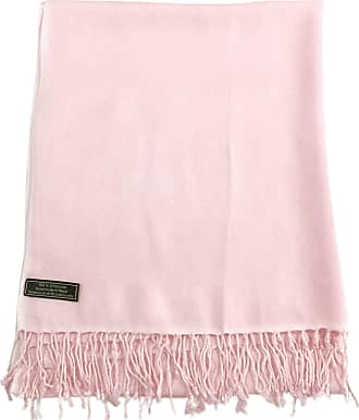 CJ Apparel Solid Colour Design Nepalese Shawl Scarf Wrap Stole Pashmina Seconds NEW, One Size, Baby Pink (Colour 18-ll)