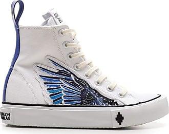 Marcelo Burlon Fashion Man CMIA085E20FAB0010143 White Fabric Hi Top Sneakers   Fall Winter 20