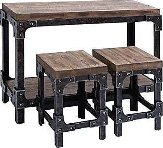 UMA Enterprises Inc. Deco 79 85976 Wood Tables Stools (Set of 3), 44/32, Multicolor