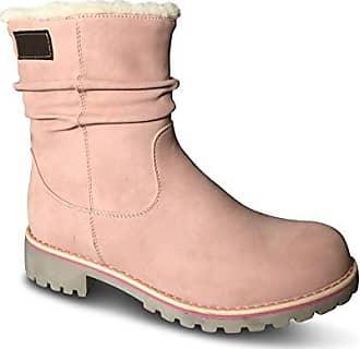 4ed169c4e175 Schuhtraum Damen Stiefel gefüttert Boots Stiefeletten Outdoor Winter Schnee  Biker (41 EU, Rosa kurz
