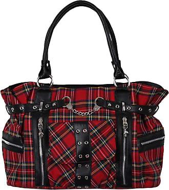 Banned Tartan Handcuff Womens Handbag