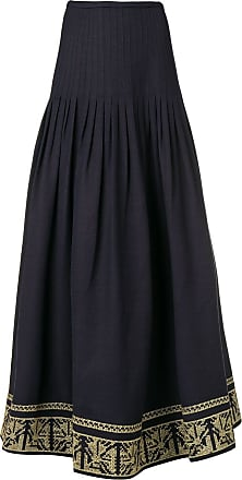 Zeus + Dione Acropolis embroidered skirt - Blue