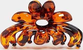Asos hair clip in tortoiseshell flower design-Multi