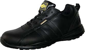 Northwest Territory MENS HOLMAN SAFETY STEEL TOECAP LIGHTWEIGHT LACE UP WORK SHOE TRAINER BLACK LEATHER 11