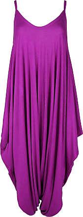 Top Fashion18 Top Fashion Ladies Plus Size Summer Strappy Baggy Harem Jumpsuit Dress Top Playsuit Cami, S/M - Fuchsia
