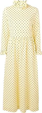 Baum Und Pferdgarten long polka dot dress - Amarelo