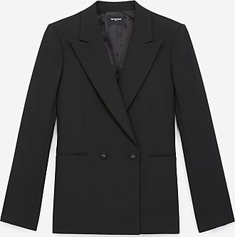 The Kooples Double-breasted black suit jacket w/pockets - WOMEN