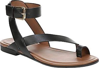 Naturalizer Womens Tally Sandal, Black Leather, 11 Narrow