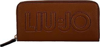 Liu Jo Womens Purse - Zip Around XL, Purse, Logo, PU Leather, 10 x 19 x 2.5 cm (H x W x D) - Brown - One size