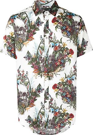John Richmond Camisa estampada mangas curtas - Branco