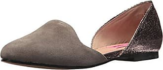 Betsey Johnson Womens Cocoh DOrsay Flat, Taupe/Pewter, 7 M US