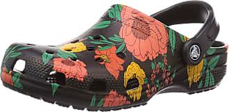 Crocs Shoes - Classic Printed Clog Floral - Floral Black, Size:6/7 UK