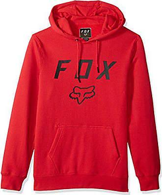 Fox Mens Standard Fit Legacy Logo Pullover Hooded Sweatshirt, Dark Red, S