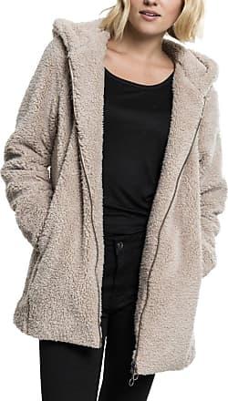Urban Classics Womens Ladies Sherpa Jacket Hooded Sweatshirt, sand, XS