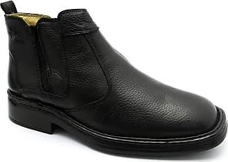Doctor Shoes Antistaffa Botina Masculina 1001 em Couro Floater Preto Doctor Shoes-Preto-43